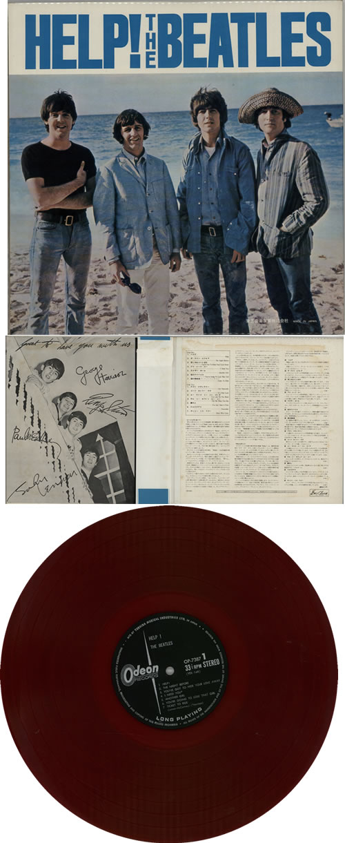 The Beatles Help! - Red Vinyl - Complete vinyl LP album (LP record) Japanese BTLLPHE359882