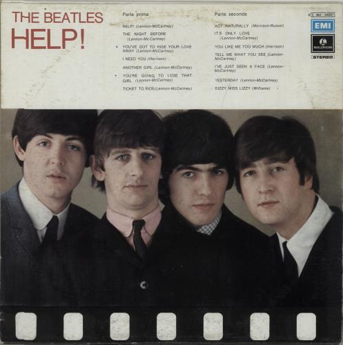 The Beatles Help! vinyl LP album (LP record) Italian BTLLPHE675633