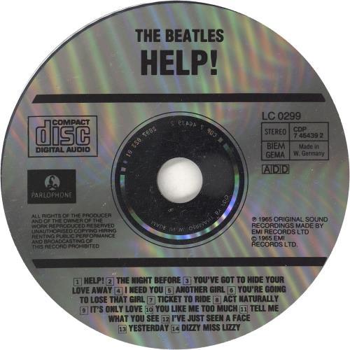 The Beatles Help! CD album (CDLP) US BTLCDHE747755
