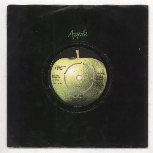 "The Beatles Hey Jude - 2nd - 4pr 7"" vinyl single (7 inch record) UK BTL07HE654398"