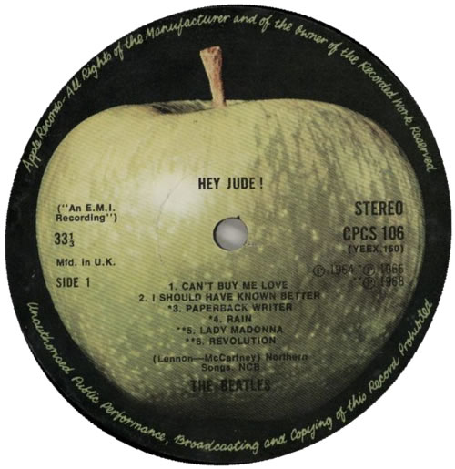 The Beatles Hey Jude - 3rd - VG vinyl LP album (LP record) UK BTLLPHE555288
