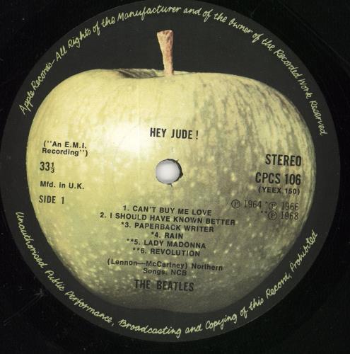 The Beatles Hey Jude - 3rd vinyl LP album (LP record) UK BTLLPHE164626