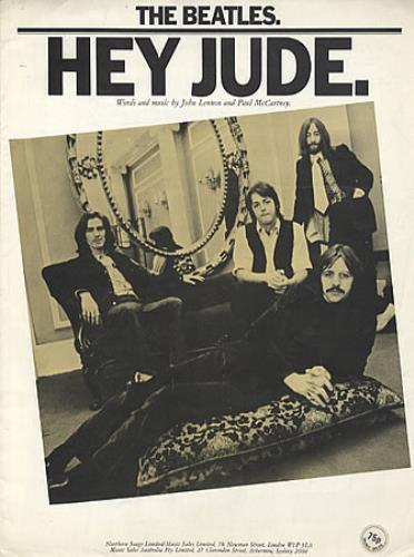 The Beatles Hey Jude sheet music UK BTLSMHE325716
