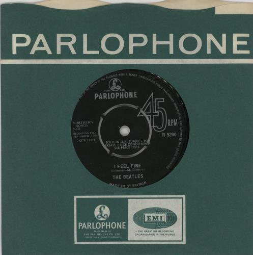 "The Beatles I Feel Fine - 1st - EX 7"" vinyl single (7 inch record) UK BTL07IF64160"