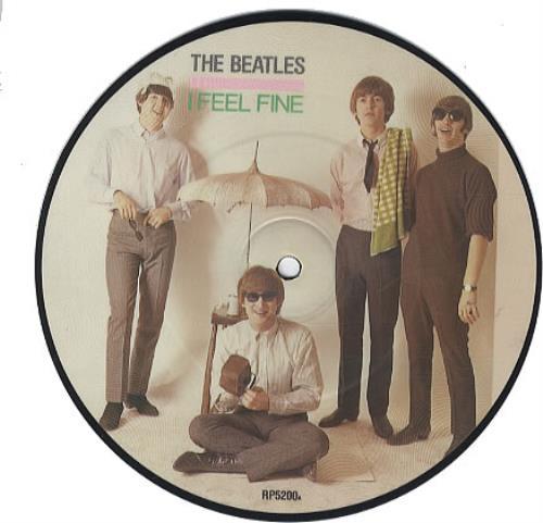 "The Beatles I Feel Fine 7"" vinyl picture disc 7 inch picture disc single UK BTL7PIF63226"