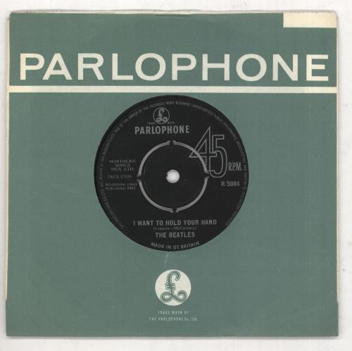 """The Beatles I Want To Hold Your Hand - 1st - EX 7"""" vinyl single (7 inch record) UK BTL07IW80986"""
