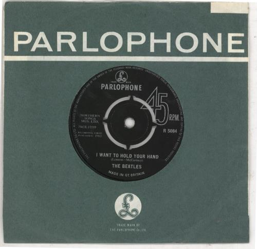 """The Beatles I Want To Hold Your Hand - Decca - VG 7"""" vinyl single (7 inch record) UK BTL07IW578536"""