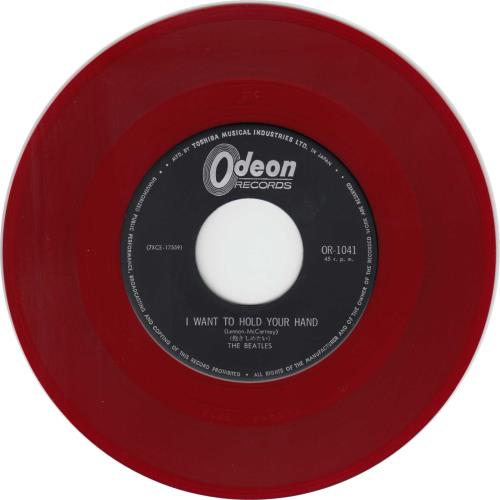 The Beatles I Want To Hold Your Hand Red Vinyl 6th