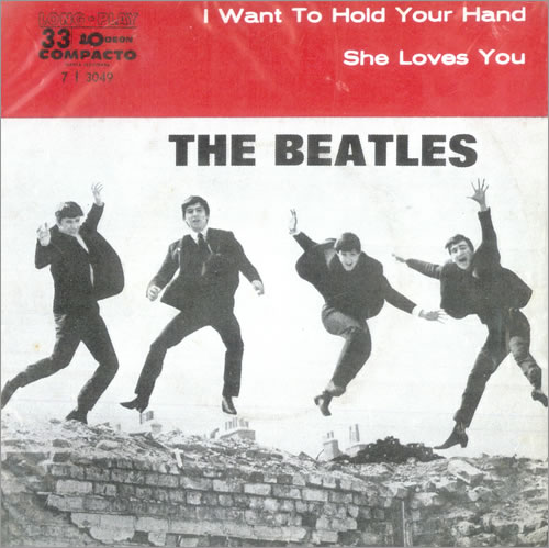 "The Beatles I Want To Hold Your Hand 7"" vinyl single (7 inch record) Brazilian BTL07IW500959"