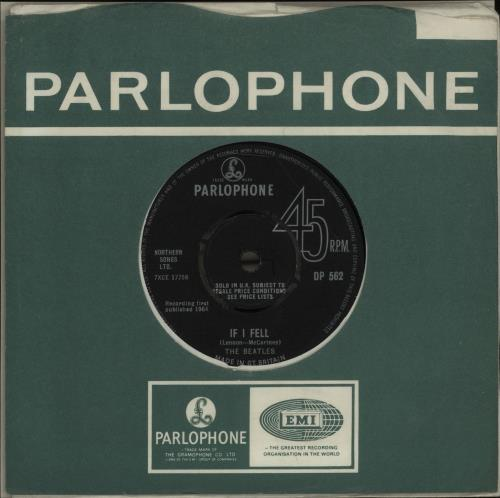 The Beatles: If I Fell - Tell Me Why single