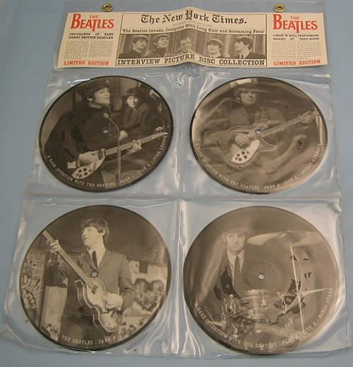 "The Beatles Interview Picture Disc Collection 7"" vinyl picture disc 7 inch picture disc single UK BTL7PIN208290"