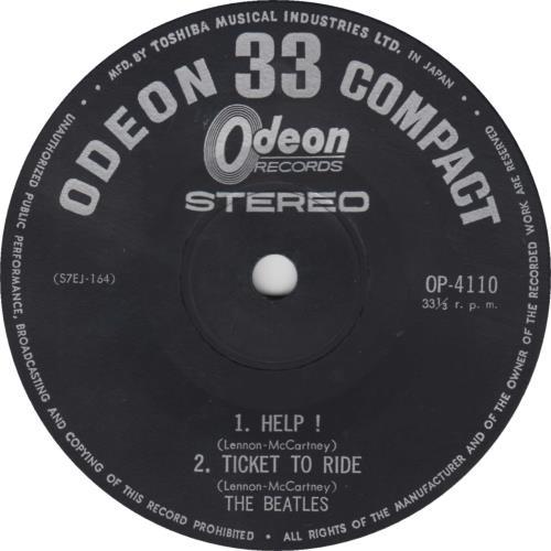 "The Beatles Japanese EP #6 - 1st - EX 7"" vinyl single (7 inch record) Japanese BTL07JA282156"