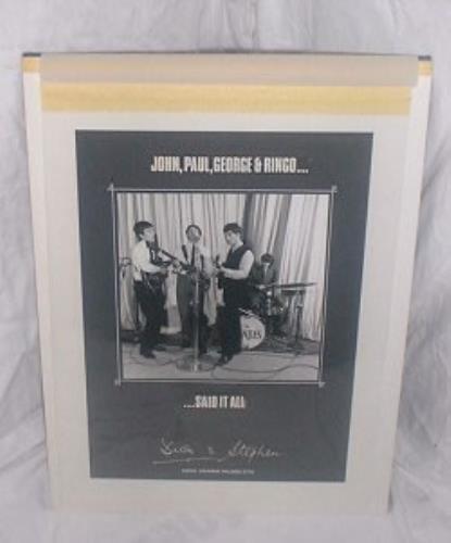 The Beatles John, Paul, George & Ringo...Said It All - Advert artwork UK BTLARJO140216