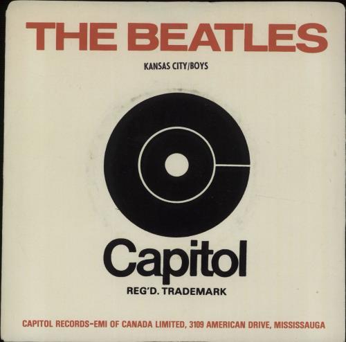 "The Beatles Kansas City 7"" vinyl single (7 inch record) Canadian BTL07KA663317"