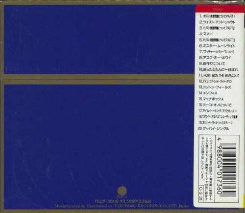 The Beatles Lennon Tracks - 24K Gold + Obi - Sealed CD album (CDLP) Japanese BTLCDLE769956