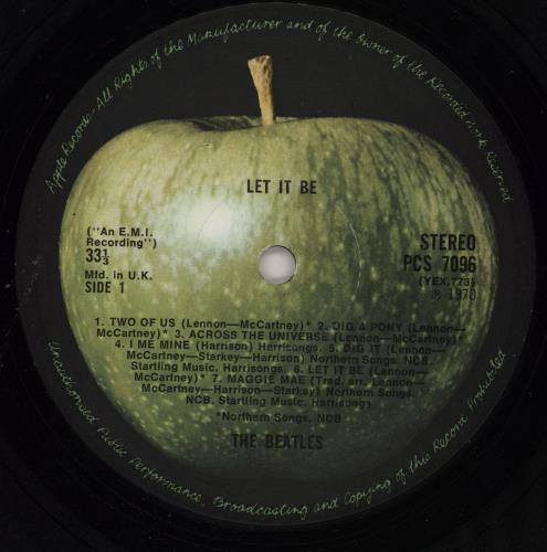 The Beatles Let It Be - 1st - G vinyl LP album (LP record) UK BTLLPLE755673