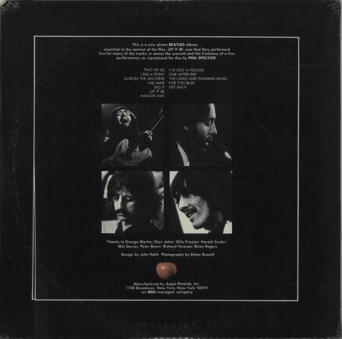The Beatles Let It Be - 1st - Sealed + Square Price Sticker vinyl LP album (LP record) US BTLLPLE101155
