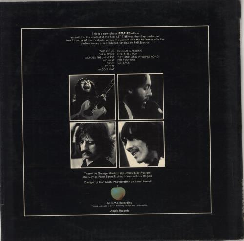 The Beatles Let It Be - 2nd - EX vinyl LP album (LP record) UK BTLLPLE267487