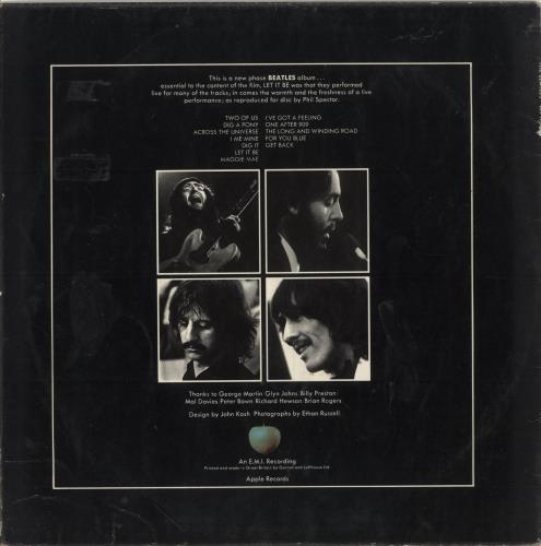 The Beatles Let It Be - 2nd - VG vinyl LP album (LP record) UK BTLLPLE747861