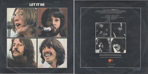 The Beatles Let It Be - MONO Brazilian vinyl LP album (LP record