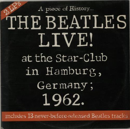 The Beatles Men/'s Tee Star Club Hamburg Black