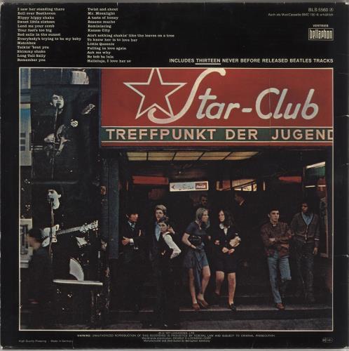 The Beatles Live! At The Star-Club In Hamburg, Germany, 1962 - EX 2-LP vinyl record set (Double Album) German BTL2LLI749812
