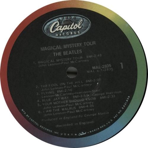 The Beatles Magical Mystery Tour - Mono US vinyl LP album (LP record