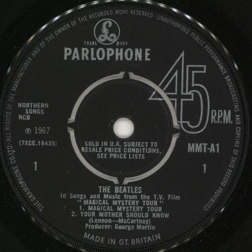 "The Beatles Magical Mystery Tour EP - 1st - 4pr - EX 7"" vinyl single (7 inch record) UK BTL07MA330871"