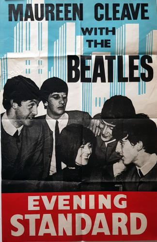 The Beatles Maureen Cleave with The Beatles poster UK BTLPOMA699505