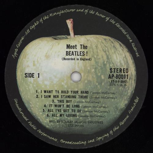 The Beatles Meet The Beatles - ¥2,200 Stickered Beatles Forever Obi vinyl LP album (LP record) Japanese BTLLPME756542