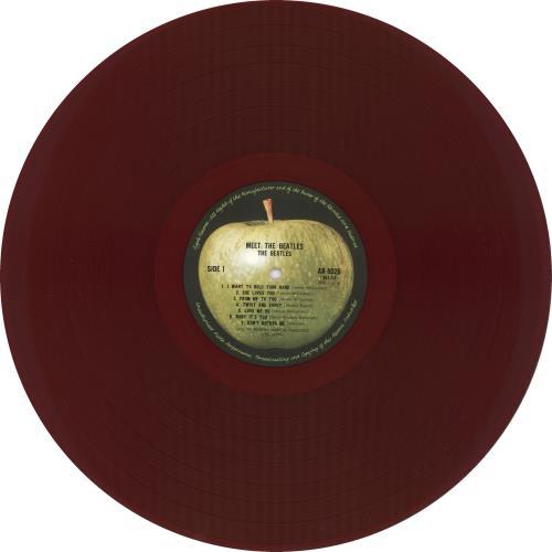 The Beatles Meet The Beatles - Japanese Version - Red Vinyl + Tracklisting Insert vinyl LP album (LP record) Japanese BTLLPME725961