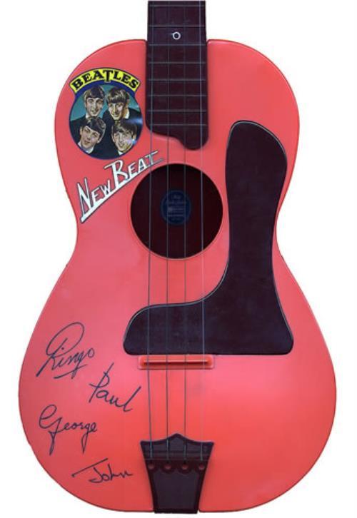 The Beatles New Beat Toy Guitar Uk Memorabilia 396877