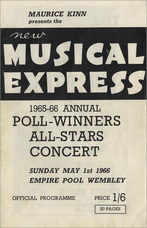 The Beatles NME Poll-Winners Concert 1966 - Mint/Near Mint tour programme UK BTLTRNM453764