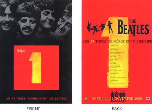 The Beatles Numeros Un handbill French BTLHBNU168739