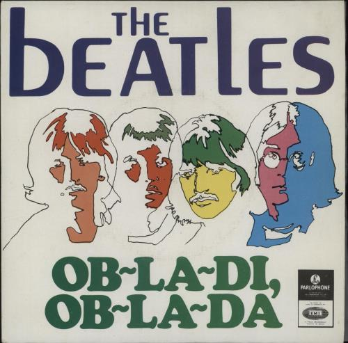 """The Beatles Ob-La-Di, Ob-La-Da 7"""" vinyl single (7 inch record) Portugese BTL07OB663119"""