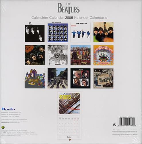 The Beatles Official Calendar 2005 calendar UK BTLCAOF304341