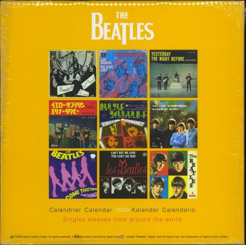 The Beatles Official Calendar 2009 calendar UK BTLCAOF430893