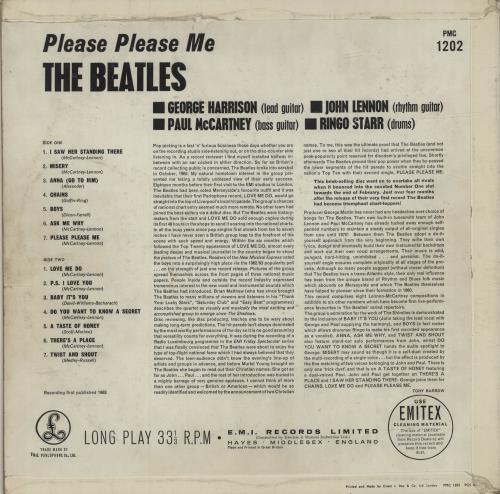 The Beatles Please Please Me - 1st [Northern Songs] - VG vinyl LP album (LP record) UK BTLLPPL680881