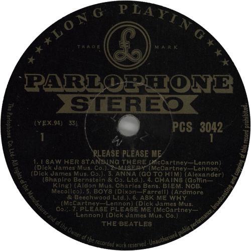 The Beatles Please Please Me - 1st - VG vinyl LP album (LP record) UK BTLLPPL330195