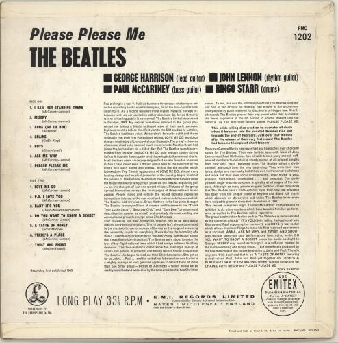 The Beatles Please Please Me - 2nd vinyl LP album (LP record) UK BTLLPPL680880