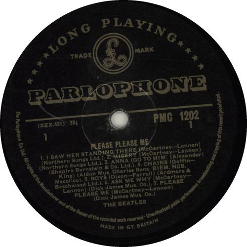 The Beatles Please Please Me - 3rd - VG vinyl LP album (LP record) UK BTLLPPL680881