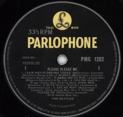 The Beatles Please Please Me 5th Ex Uk Vinyl Lp Album