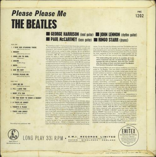 The Beatles Please Please Me - 5th - VG vinyl LP album (LP record) UK BTLLPPL579034