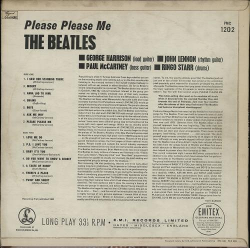The Beatles Please Please Me - 5th G&L - EX vinyl LP album (LP record) UK BTLLPPL764086