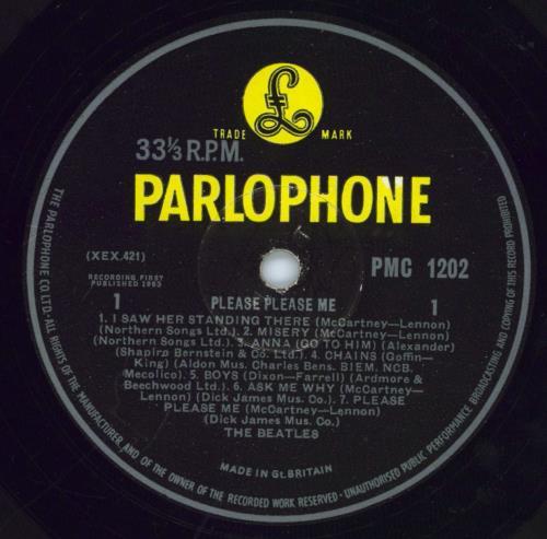 The Beatles Please Please Me - 5th G&L - VG vinyl LP album (LP record) UK BTLLPPL770221