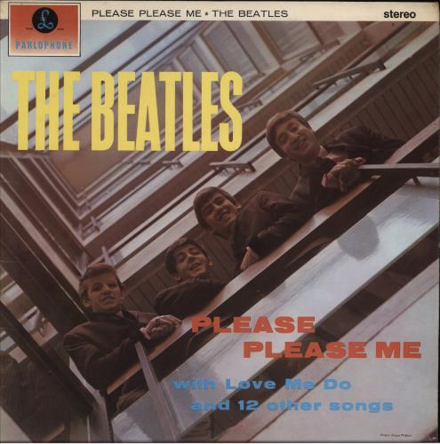 The Beatles Please Please Me - 7th - VG vinyl LP album (LP record) UK BTLLPPL707302
