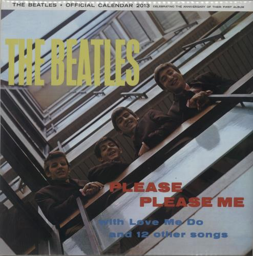 The Beatles Please Please Me - Official Calendar 2013 calendar UK BTLCAPL647173