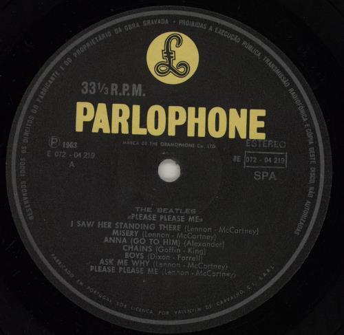 The Beatles Please Please Me - VG vinyl LP album (LP record) Portugese BTLLPPL755709