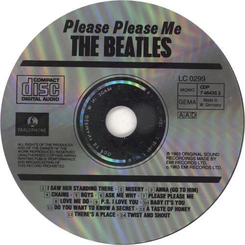 The Beatles Please Please Me CD album (CDLP) German BTLCDPL747748