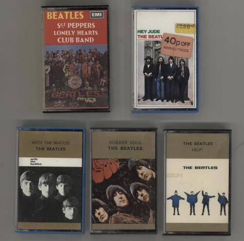 The Beatles Quantity of 5 Beatles Cassette Albums cassette album UK BTLCLQU758636